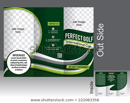 perfect tri fold golf brochure stock photo © rioillustrator