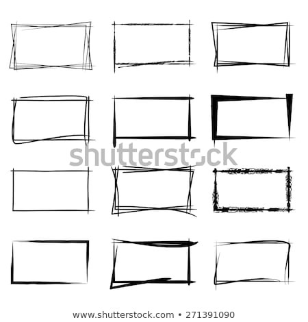 Stock photo: grunge sketch frame illustration