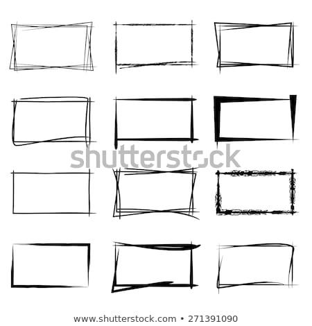 Grunge boceto marco ilustración cuaderno pintura Foto stock © mikemcd