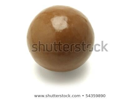 Büyük çikolata top bir beyaz Stok fotoğraf © dezign56