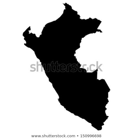 Mapa Perú diferente blanco ciudad Foto stock © mayboro1964