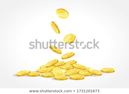 Stock photo: Prize sign at a stack of golden coins