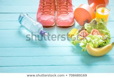 Hand vork salade geïsoleerd witte Stockfoto © fantazista