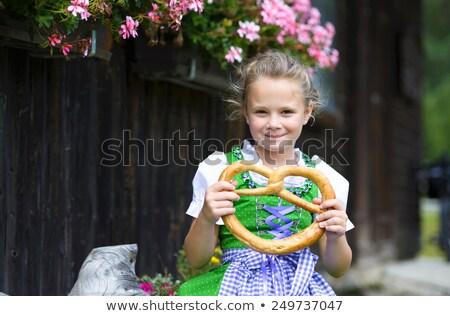 девушки · цветы · стороны · зеленый · луговой - Сток-фото © maros_b
