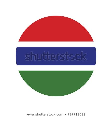 Round sticker with flag of gambia Stock photo © MikhailMishchenko