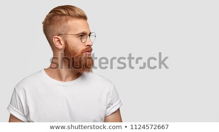 Young Man with Trendy Haircut - Isolated on White Stock photo © courtyardpix