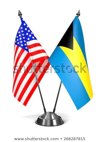 EUA Bahamas miniatura bandeiras isolado branco Foto stock © tashatuvango
