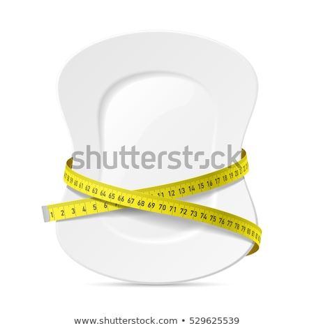 Fit and healthy waist measured with a tape  Stock photo © master1305