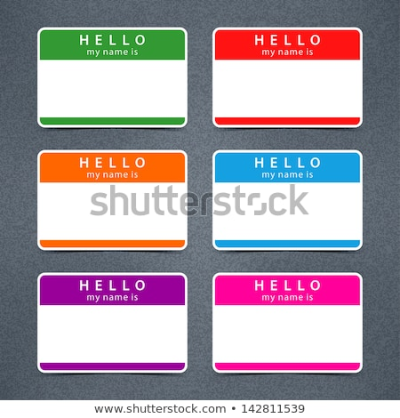 Hello My Name is Blank Green Name Tag Sticker Stock photo © iqoncept