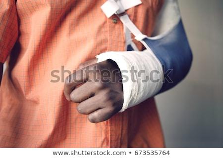 rotto · polso · braccio · blu - foto d'archivio © soupstock