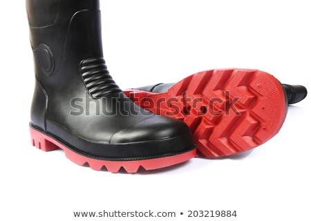 two legs wearing in rubber boots stock photo © valeriy