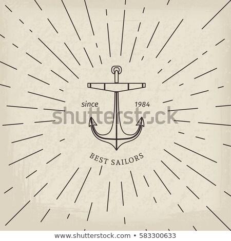 çapa bağbozumu güneş çerçeve mükemmel Stok fotoğraf © netkov1