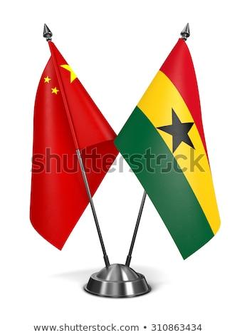 zászló · Ghána · festék · színek · zöld · festmény - stock fotó © tashatuvango