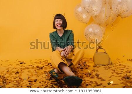 Nina posando de moda moda diseno modelo Foto stock © shawlinmohd