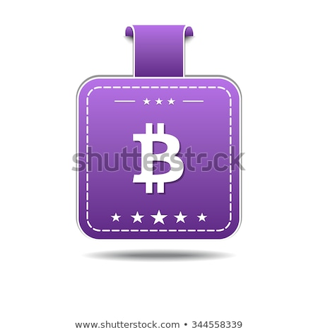 Bit Coin VioletVector Icon Design Stock photo © rizwanali3d