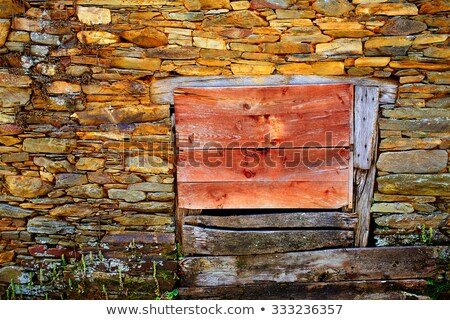 Way of Saint James slate stone in Galicia Stock photo © lunamarina