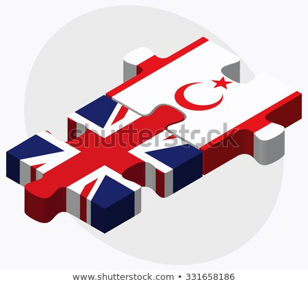 United Kingdom and Turkish Republic of North Cyprus Flags Stock photo © Istanbul2009