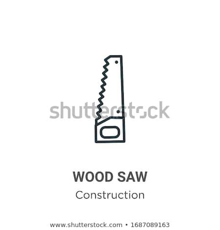 Stock photo: Saw line icon.