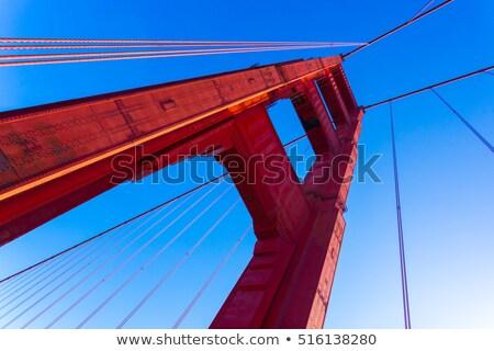 Detalle famoso Golden Gate Bridge manana niebla San Francisco Foto stock © CaptureLight