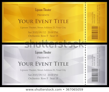 Modern gold and silver ticket with abstract background Stock photo © liliwhite