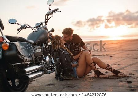 Ragazza retro moto ritratto Foto d'archivio © NicoletaIonescu