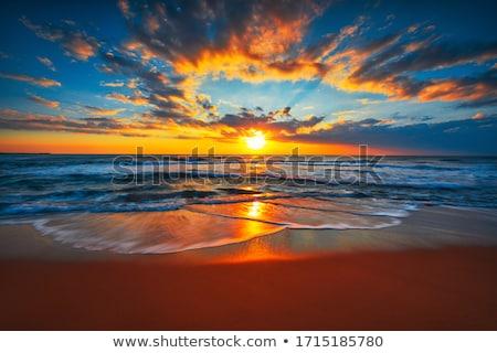 nascer · do · sol · ondas · oceano · Flórida · água - foto stock © elenaphoto
