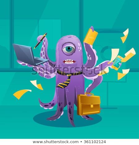 cartoon octopus moster as a boss stock photo © conceptcafe