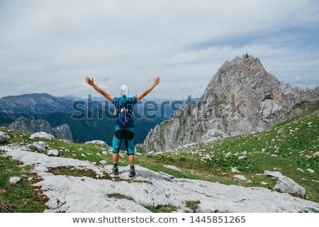işadamı · tırmanma · tepe · asfalt · mutlu · profesyonel - stok fotoğraf © zurijeta