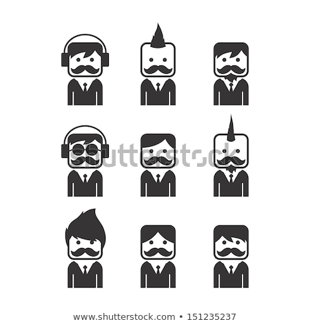 Stock photo: whiskers mustache guy avatar