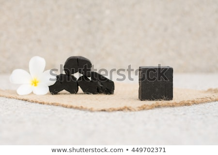 Naturales carbono jabón belleza negro piel Foto stock © joannawnuk