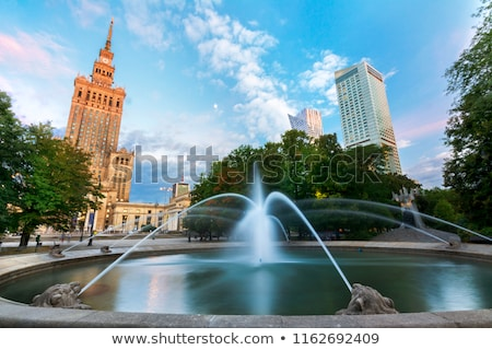 Old style skyscrapers at Warsaw city center Stock photo © filipw
