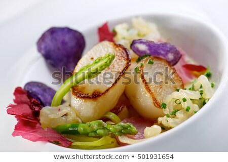 sült · tortilla · modern · gasztronómia · fehér · edény - stock fotó © pedrosala