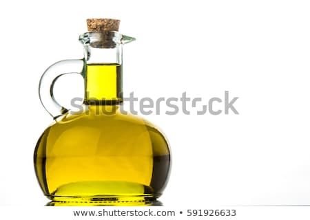Extra maagd olijfolie vintage oude houten tafel Stockfoto © marimorena