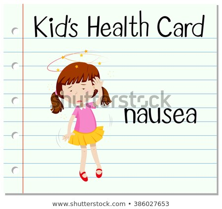 Health card with girl having nausea Stock photo © bluering