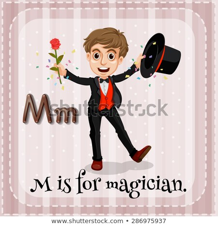 Flashcard letter M is for man Stock photo © bluering