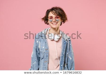 uitgebreide · familie · poseren · warm · kleding · vrouw · familie - stockfoto © neonshot