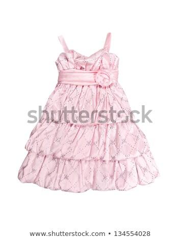 Satin Baby Kleid weiß Hintergrund Stock foto © RuslanOmega