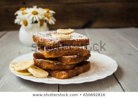 chocolate peanut butter banana stuffed french toast stock photo © zoryanchik
