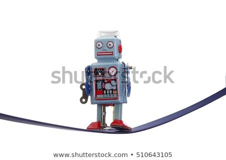 Robô apertado corda 3d render equilíbrio futuro Foto stock © kjpargeter