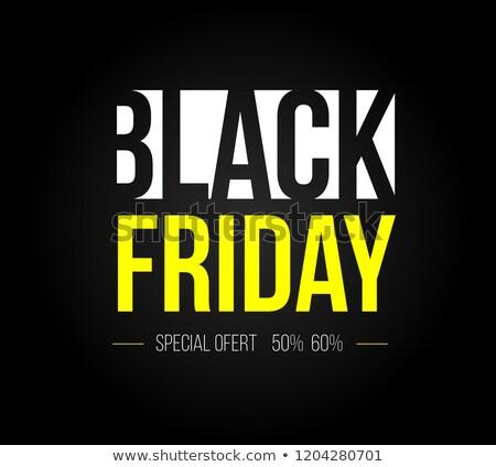 Clean black friday vendita testo nero Foto d'archivio © SArts