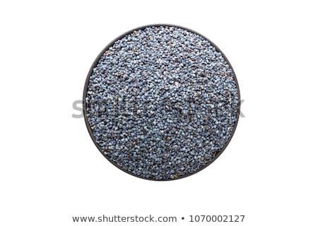 Top view of a blue poppy seeds in a bowl Stock photo © deandrobot