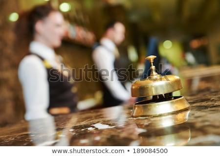 Reception bell at hotel check in desk Stock photo © stevanovicigor
