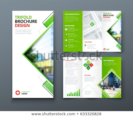 abstract tri fold brochure design in geometric shape style Stock photo © SArts