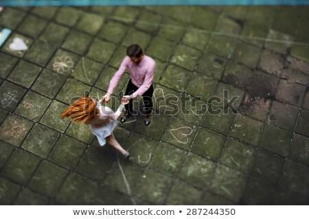 Romantic couple dancing with hand in hand Stock photo © wavebreak_media