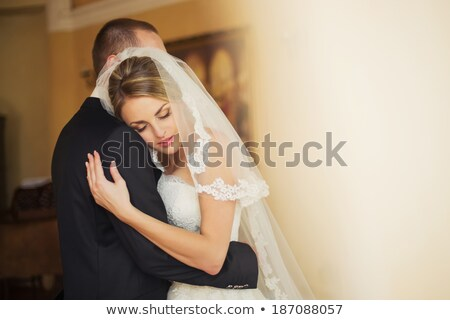 taniec · ślub · para · piękna · trawnik · moda - zdjęcia stock © wavebreak_media