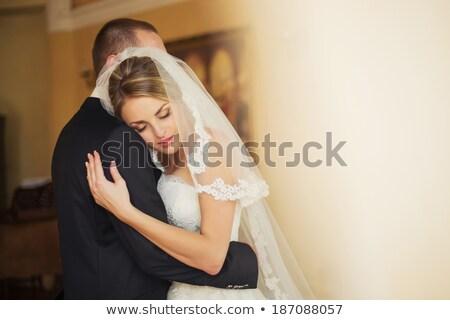 Bruiloft paar dansen hal glimlachend man Stockfoto © wavebreak_media