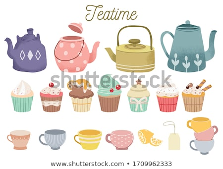 Teatime in dots. Stock photo © Fisher