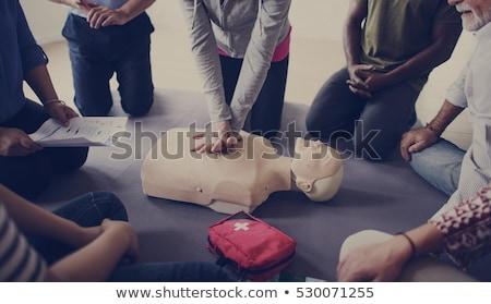 Première médicaux aide patient massage coeur Photo stock © Olena