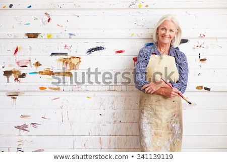 middle of painting the picture Stock photo © Olena
