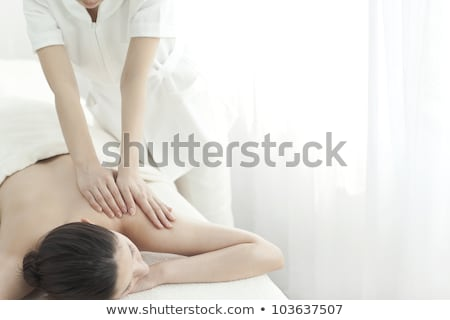 Woman being massaged Stock photo © IS2